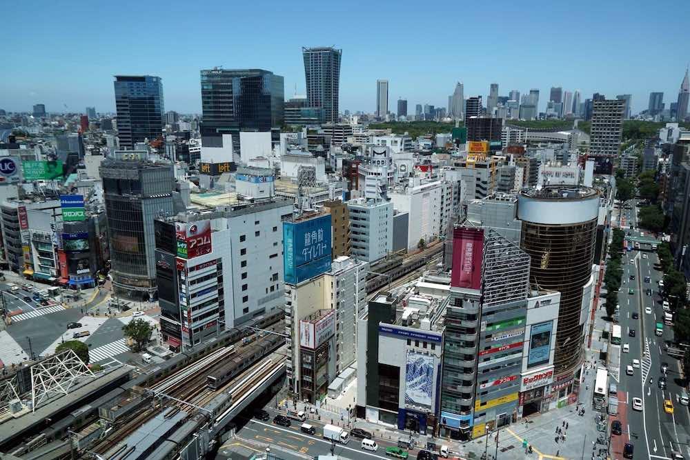 渋谷区の眺め
