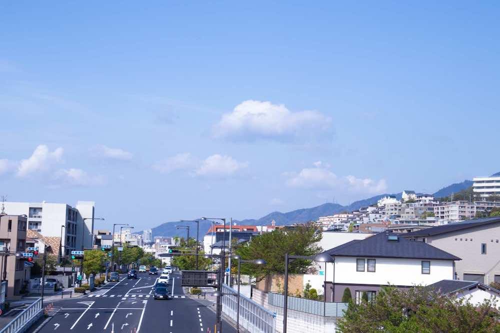 芦屋市の街並み
